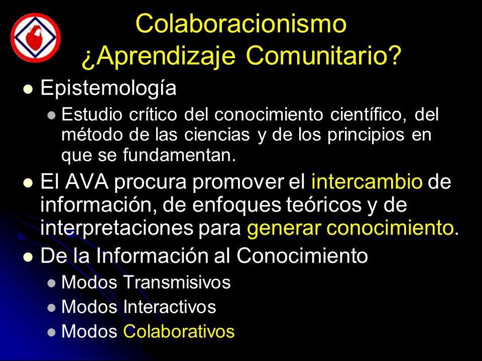 Colaboracionismo ¿Aprendizaje Comunitario.
