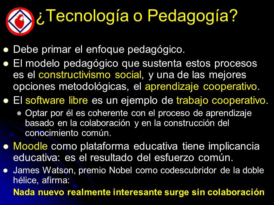 ¿Tecnología o Pedagogía. Debe primar el enfoque pedagógico.