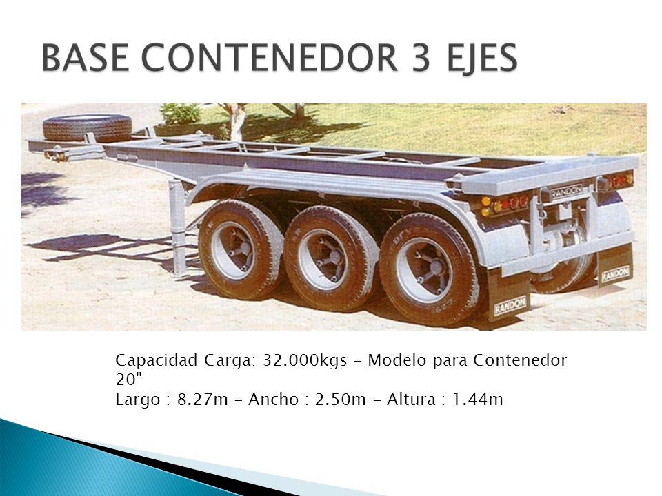Capacidad Carga: 32.000kgs - Modelo para Contenedor 20
