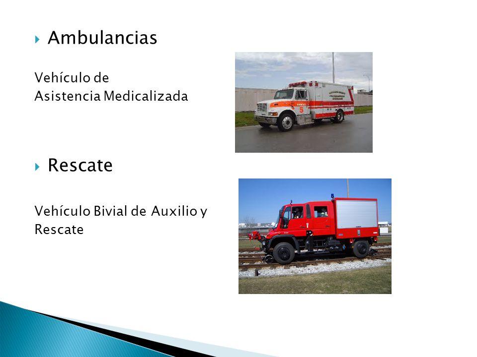 Ambulancias Vehículo de Asistencia Medicalizada Rescate Vehículo Bivial de Auxilio y Rescate