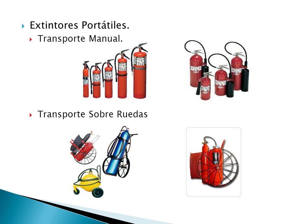 Extintores Portátiles. Transporte Manual. Transporte Sobre Ruedas