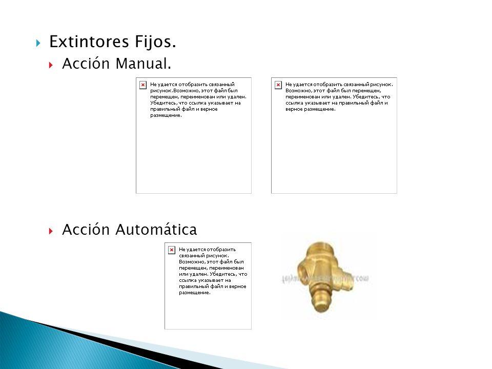 Extintores Fijos. Acción Manual. Acción Automática