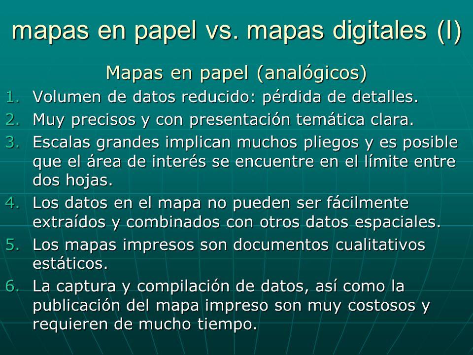 mapas en papel vs.mapas digitales (II) Mapas en digital 1.