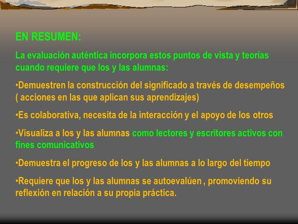 TENDENCIAS EVALUATIVAS INTEGRADAS A LA PROPUESTA DE EVALUACIÓN AUTÉNTICA EVALUACIÓN FORMATIVA.