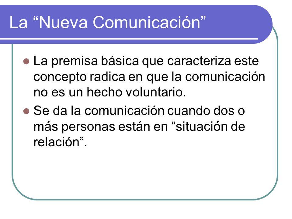 Paul Watzlawick trabajó desde 1958 en una nueva acepción del hecho comunicativo, lo que hoy conocemos como Nueva Comunicación.
