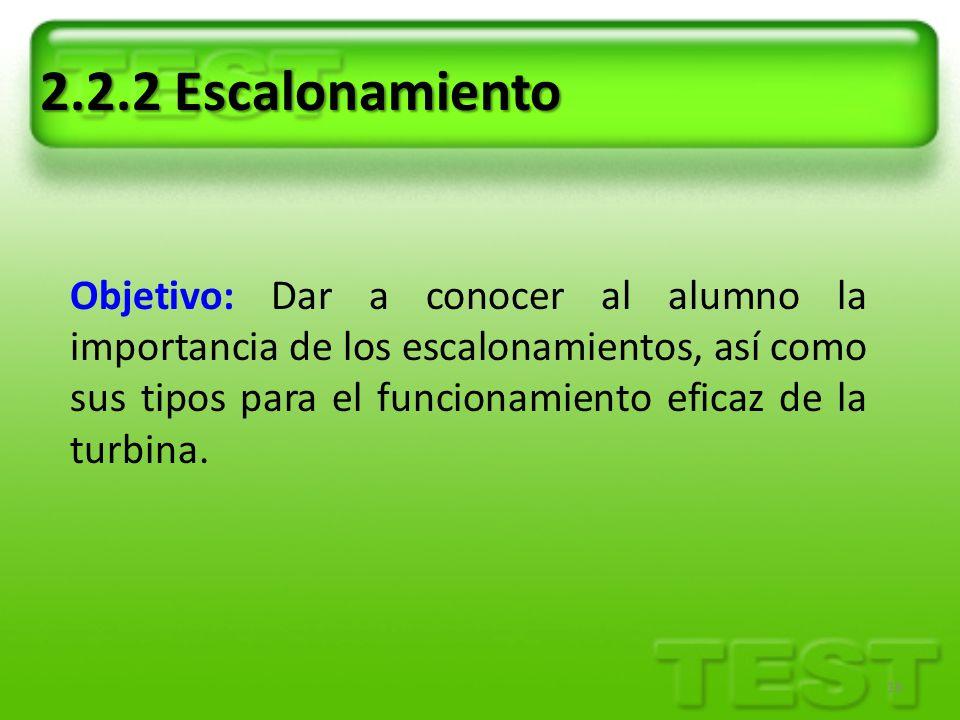 18 2.2.2 Escalonamiento Objetivo: Dar a conocer al alumno la importancia de los escalonamientos, así como sus tipos para el funcionamiento eficaz de l