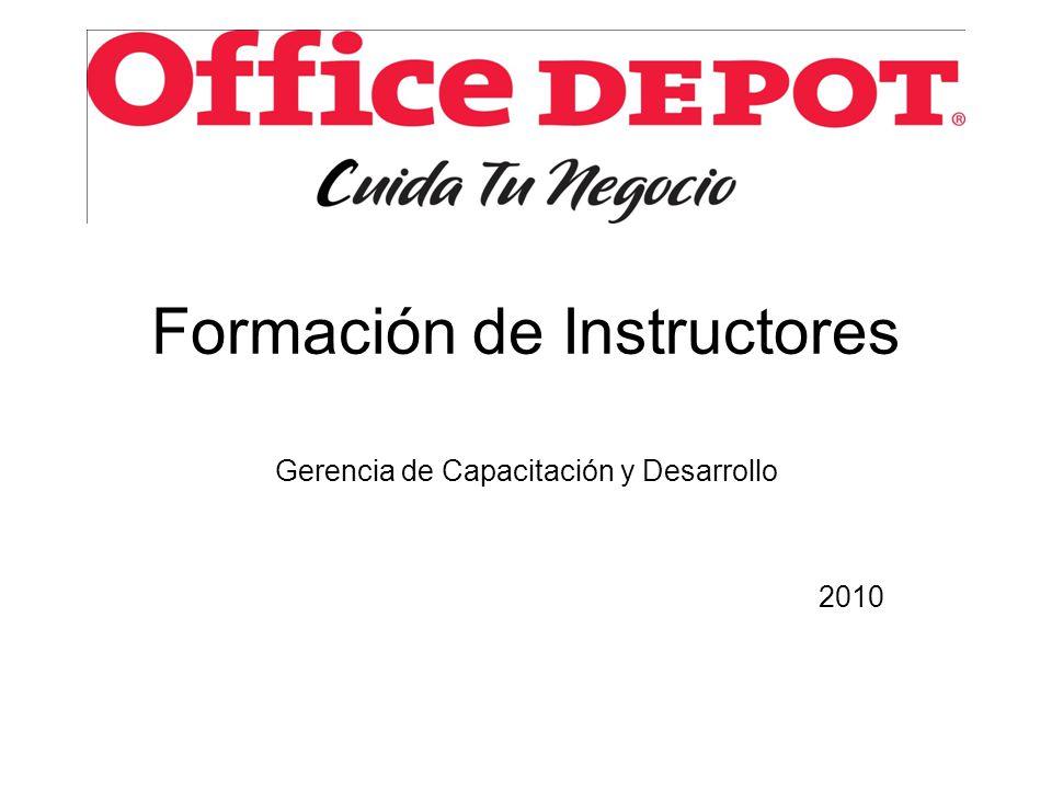 Formación de Instructores Gerencia de Capacitación y Desarrollo 2010