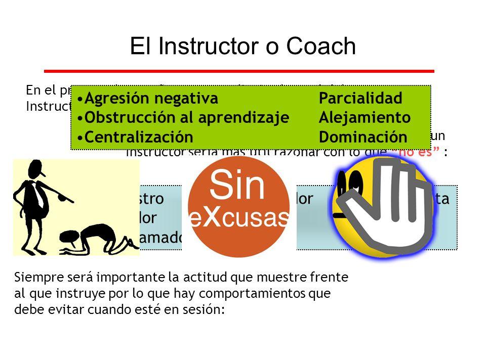 En el proceso de enseñanza-aprendizaje el papel del Instructor es determinante, ya que es el conductor. Más que establecer una definición sobre lo que