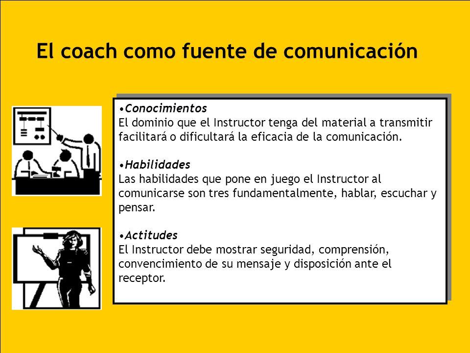 Conocimientos El dominio que el Instructor tenga del material a transmitir facilitará o dificultará la eficacia de la comunicación. Habilidades Las ha