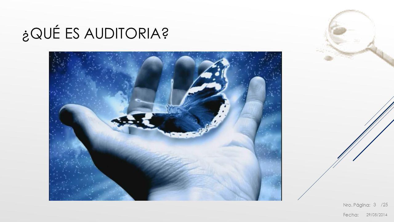 Nro. Página: Fecha: /25 ¿QUÉ ES AUDITORIA? 29/05/2014 3