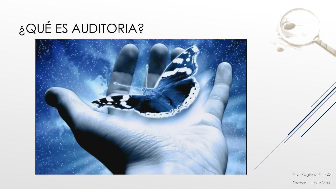 Nro. Página: Fecha: /25 ¿QUÉ ES AUDITORIA? 29/05/2014 4