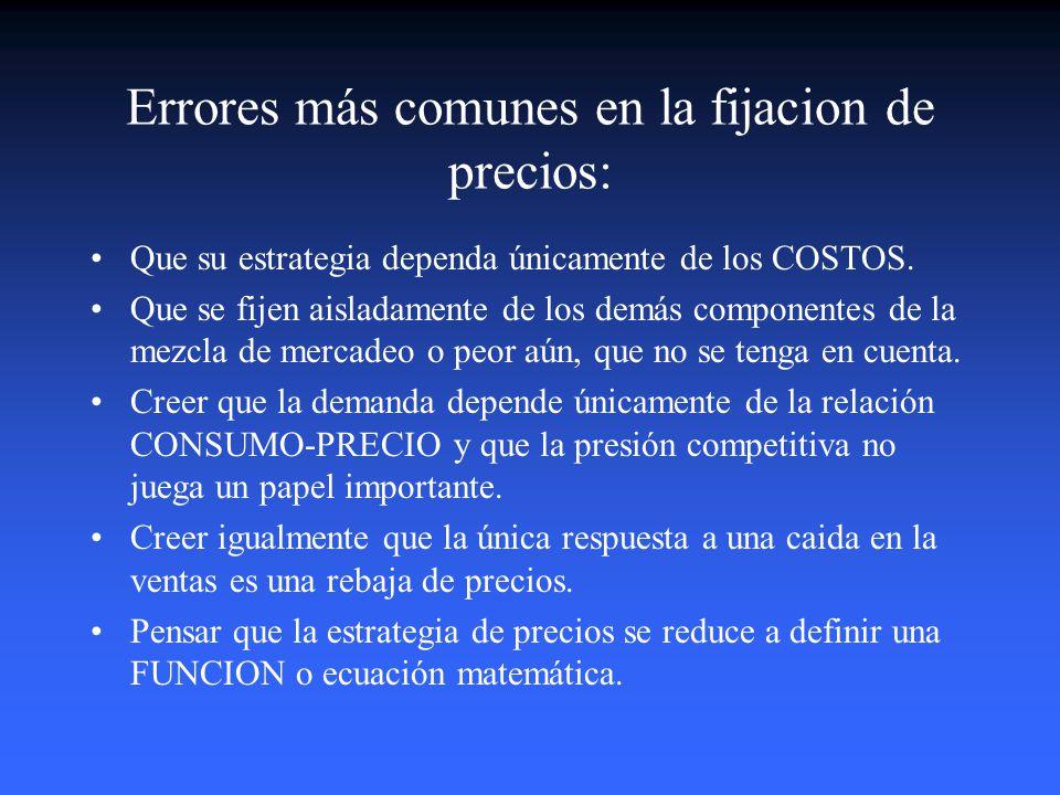 Estrategias Genéricas de Precio El Precio 1. Skimming Price o Precio de Desceme 2.Penetration Price o Precio de Introducción. 3.Precio de Sustentación