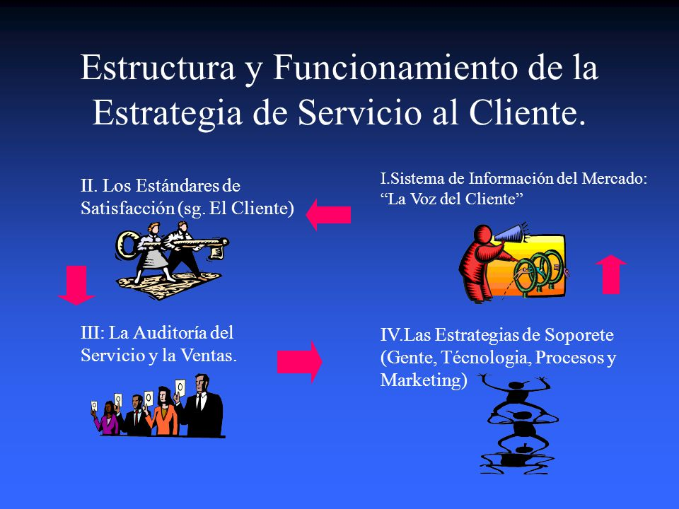 Como se logra la satisfacción del Cliente? Elementos Clave que debe ser considerados: Un excelente Sistema de Información del Mercado que involucre el