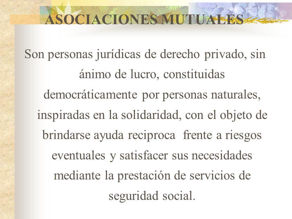 INSTITUCIONES AUXILIARES DE LA ECOSOL Son personas jurídicas sin ánimo de lucro, constituidas bien sea por Organizaciones de la ECOSOL o por personas