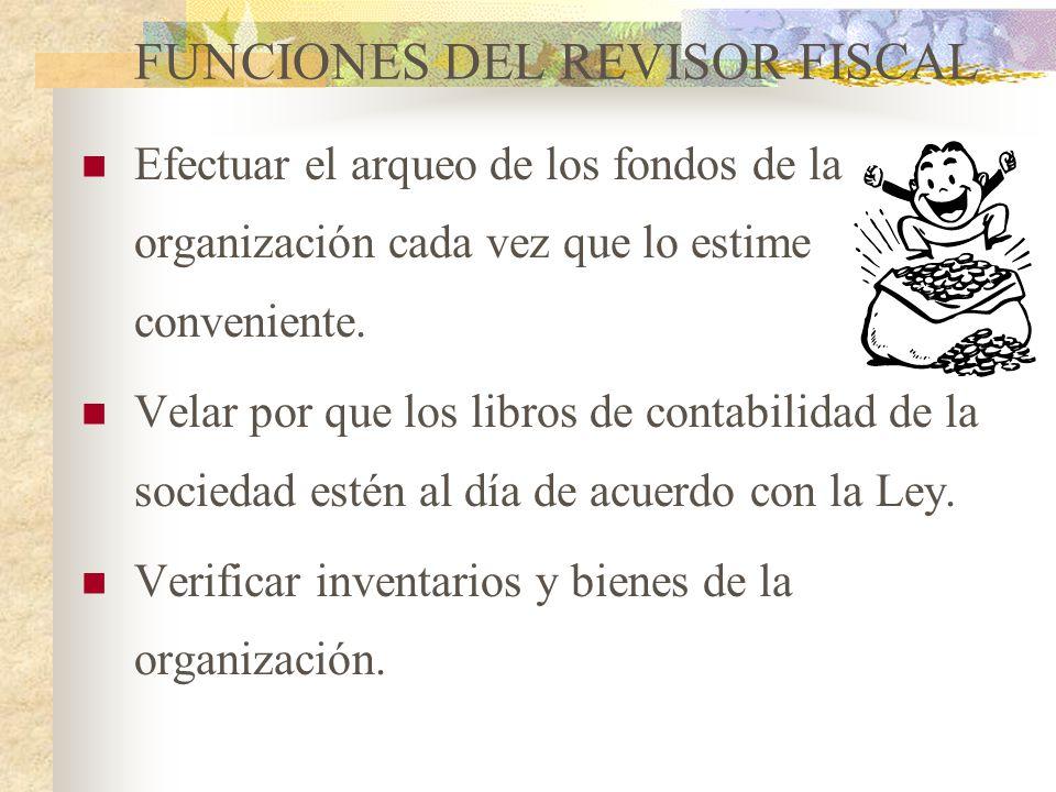 REVISOR FISCAL Es el mecanismo de control prescrito por la ley con funciones determinadas por los estatutos, teniendo en cuenta las atribuciones consi