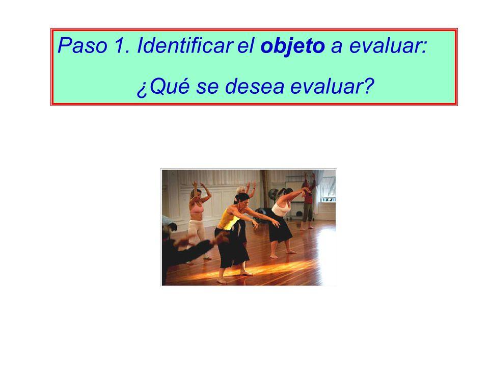 Paso 1. Identificar el objeto a evaluar: ¿Qué se desea evaluar?