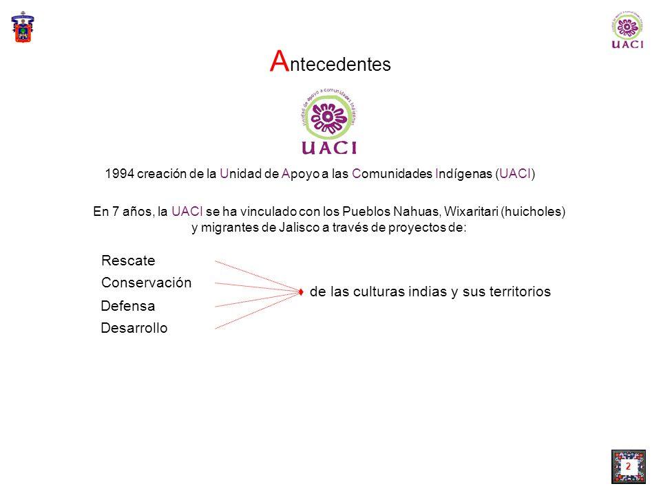 Universidad de Guadalajara Coordinación General de Extensión Unidad de Apoyo a las Comunidades Indígenas