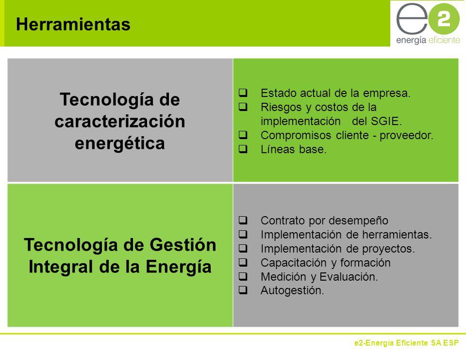 e2-Energía Eficiente SA ESP Herramientas Tecnología de caracterización energética Estado actual de la empresa.