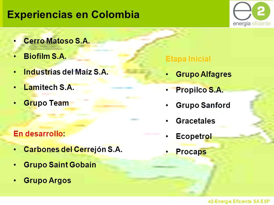 e2-Energía Eficiente SA ESP Experiencias en Colombia Cerro Matoso S.A.