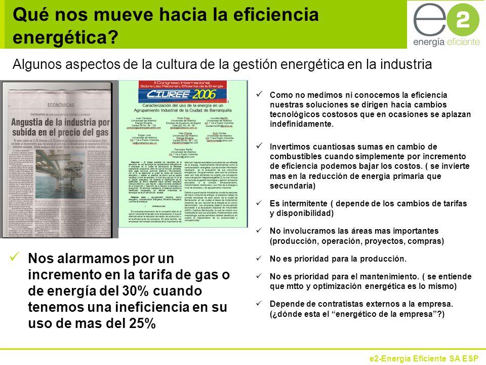e2-Energía Eficiente SA ESP ¿Por qué Gestión Energética.