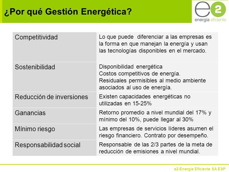 e2-Energía Eficiente SA ESP Situación típica de la gestión energética en las empresas