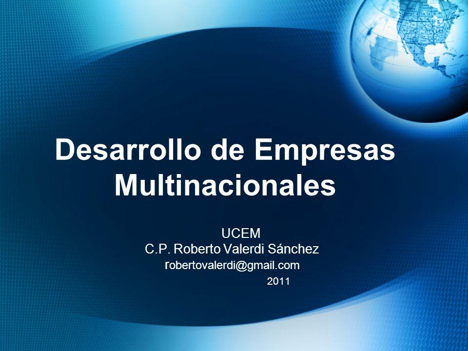 Desarrollo de Empresas Multinacionales UCEM C.P.