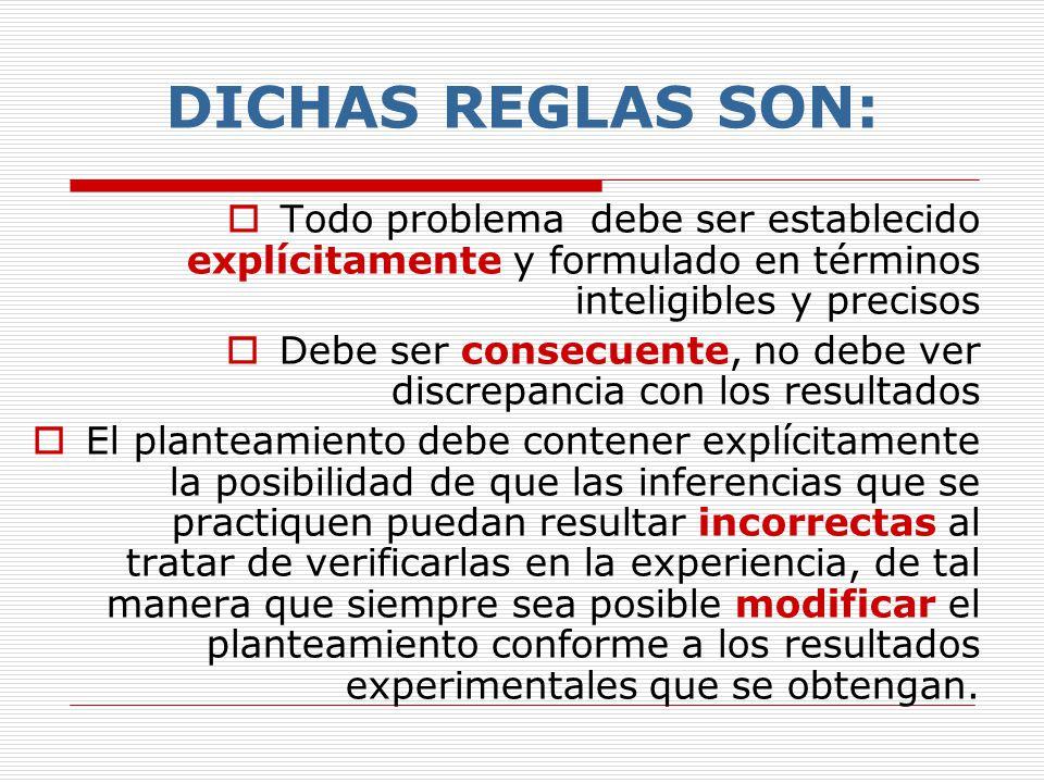 Existen ciertas reglas generales, de cuya acertada interpretación y conveniente aplicación resulta el planteamiento del problema En el planteamiento c