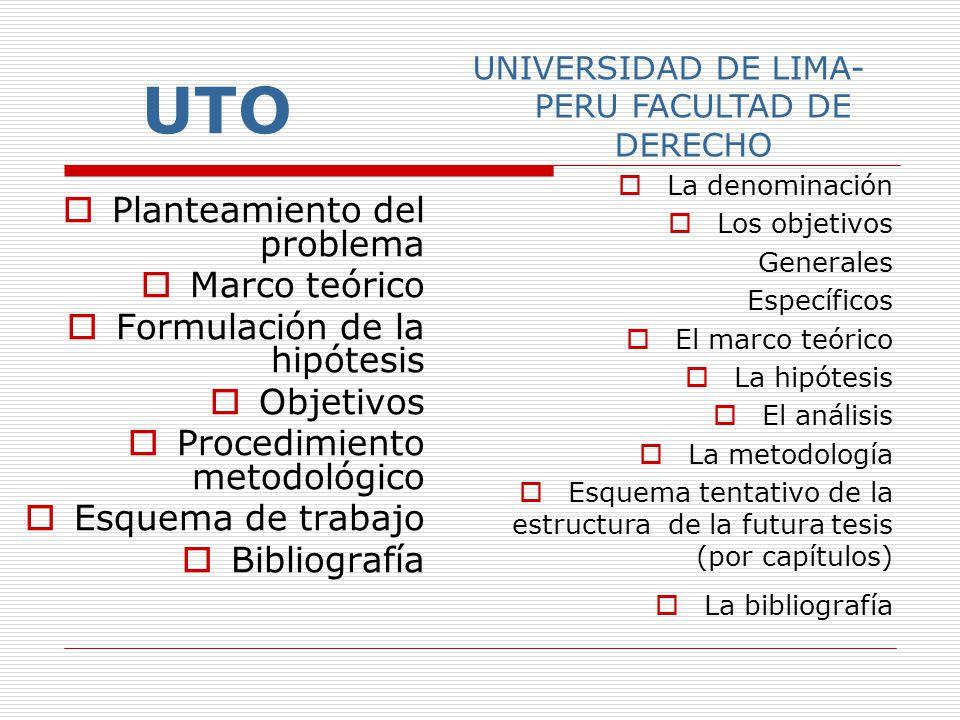 EJEMPLOS DE ESQUEMAS UMSA Titulo provisional Justificación Planteamiento del problema e hipótesis Objetivos y alcances Metodología Esquema del marco c