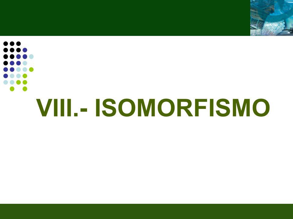 VIII.- ISOMORFISMO