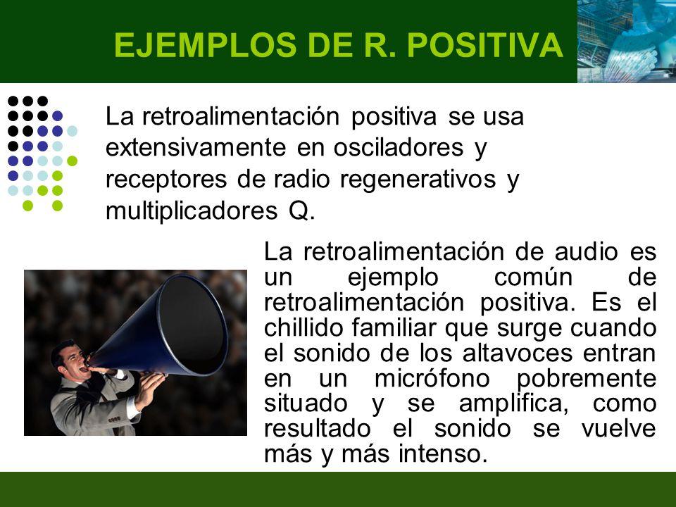 La retroalimentación de audio es un ejemplo común de retroalimentación positiva.