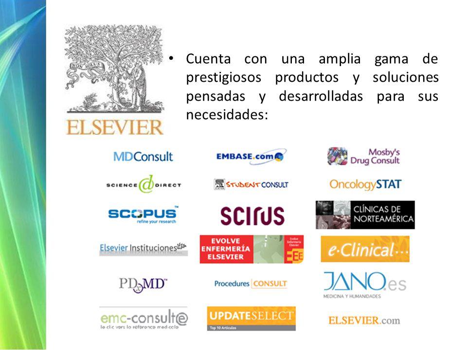 Cuenta con una amplia gama de prestigiosos productos y soluciones pensadas y desarrolladas para sus necesidades: