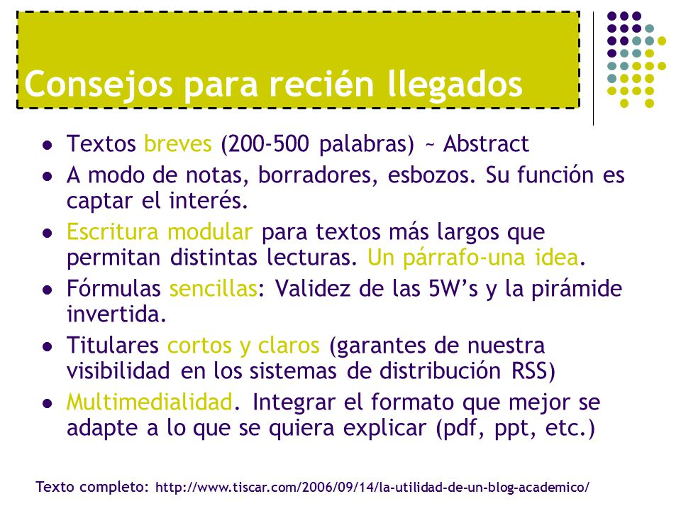 Textos breves (200-500 palabras) ~ Abstract A modo de notas, borradores, esbozos.
