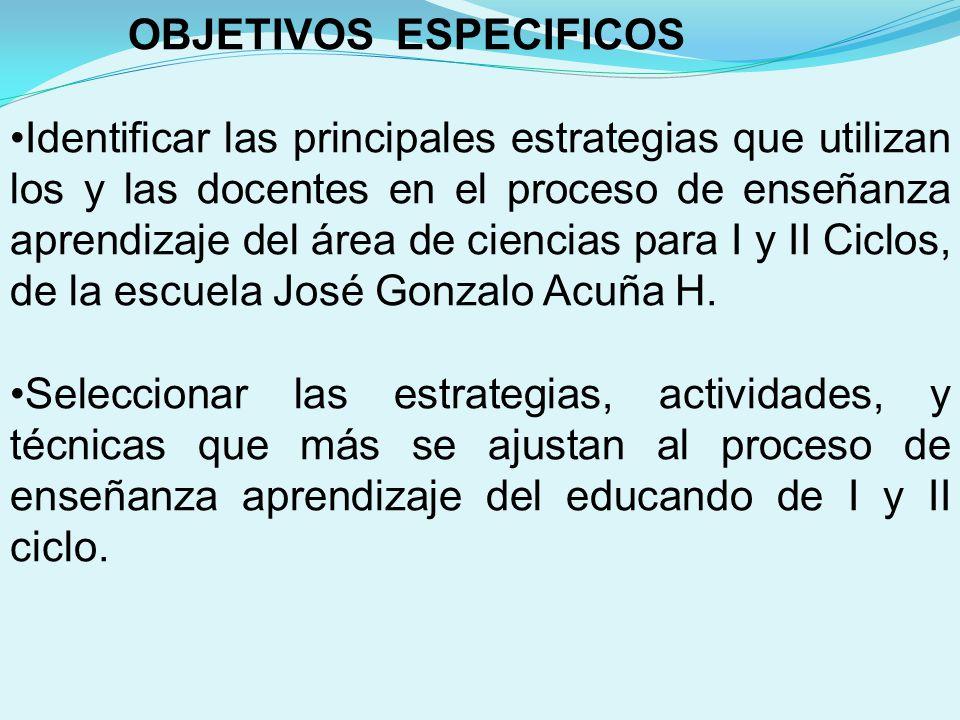 CONCLUSIONES: Con base en los resultados obtenidos en el apartado denominado análisis e interpretación de los resultados, se puede concluir que los y las estudiantes de I y II ciclo de la Escuela José Gonzalo Acuña Hernández.