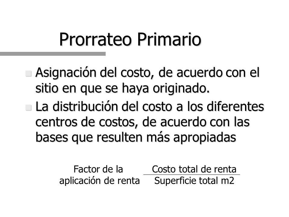 Centros de Costos n Departamentos de producción (CCP): transformación física de la materia prima.