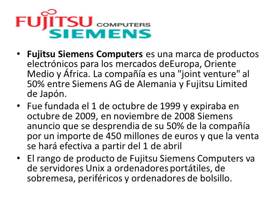 Fujitsu Siemens Computers es una marca de productos electrónicos para los mercados deEuropa, Oriente Medio y África.