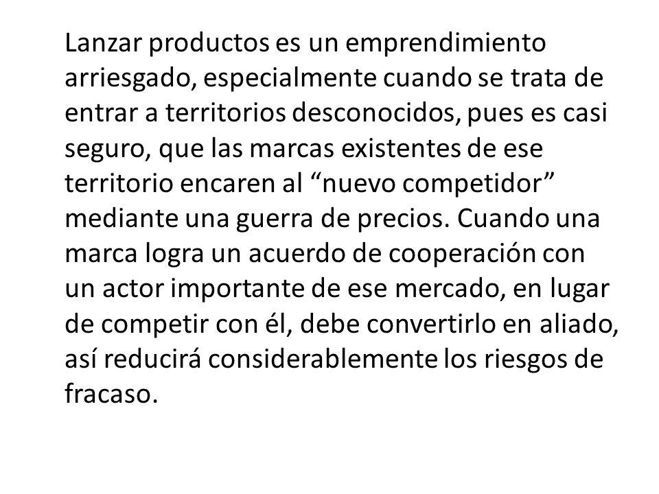 Lanzar productos es un emprendimiento arriesgado, especialmente cuando se trata de entrar a territorios desconocidos, pues es casi seguro, que las marcas existentes de ese territorio encaren al nuevo competidor mediante una guerra de precios.
