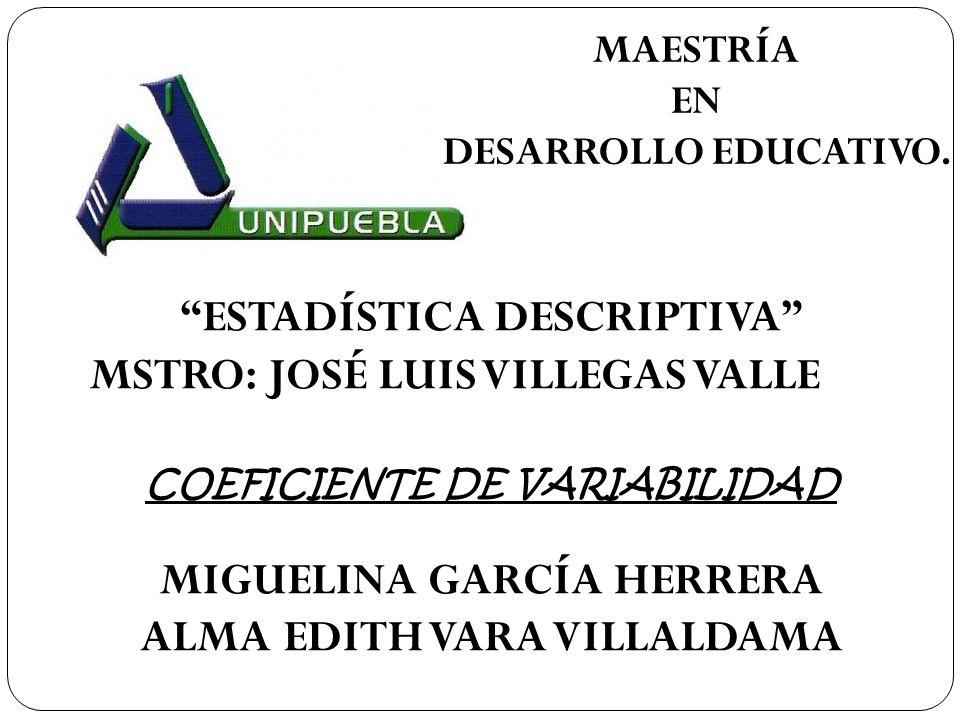 MAESTRÍA EN DESARROLLO EDUCATIVO.
