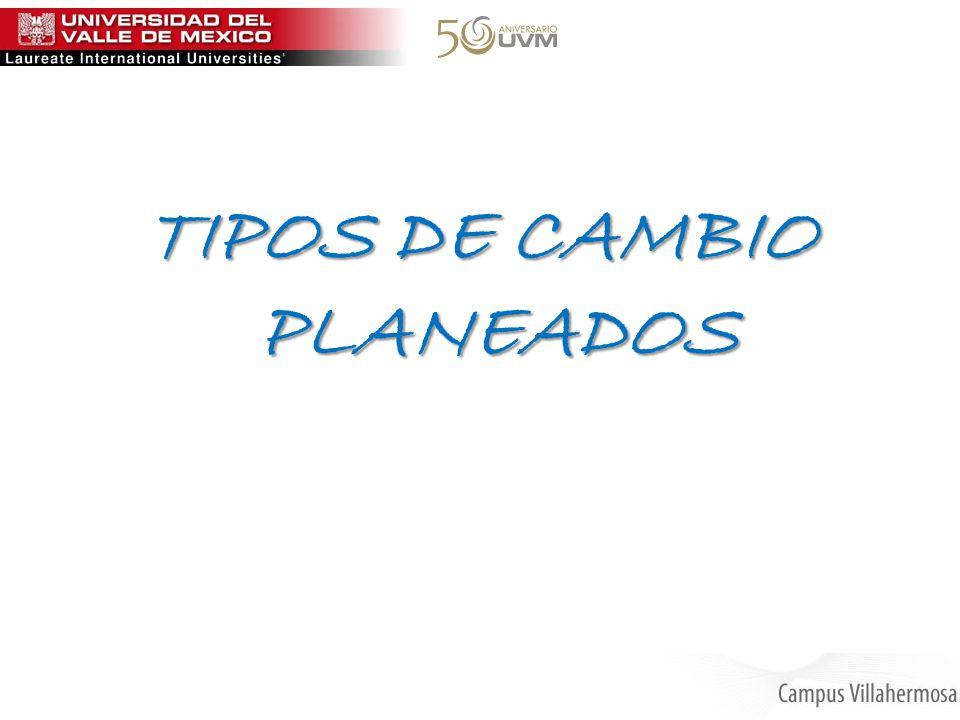TIPOS DE CAMBIO PLANEADOS