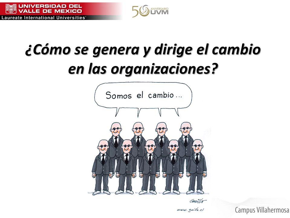 ¿Cómo se genera y dirige el cambio en las organizaciones?