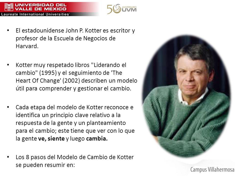 El estadounidense John P. Kotter es escritor y profesor de la Escuela de Negocios de Harvard. Kotter muy respetado libros