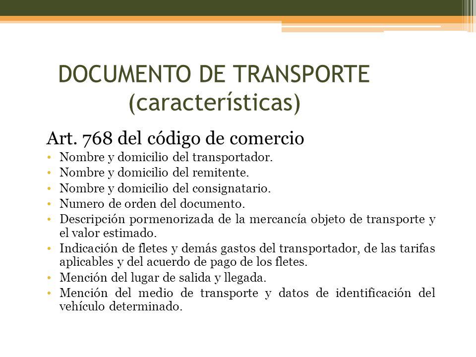 Res 4240 de 2000 Sección I Aviso de llegada del medio de transporte.