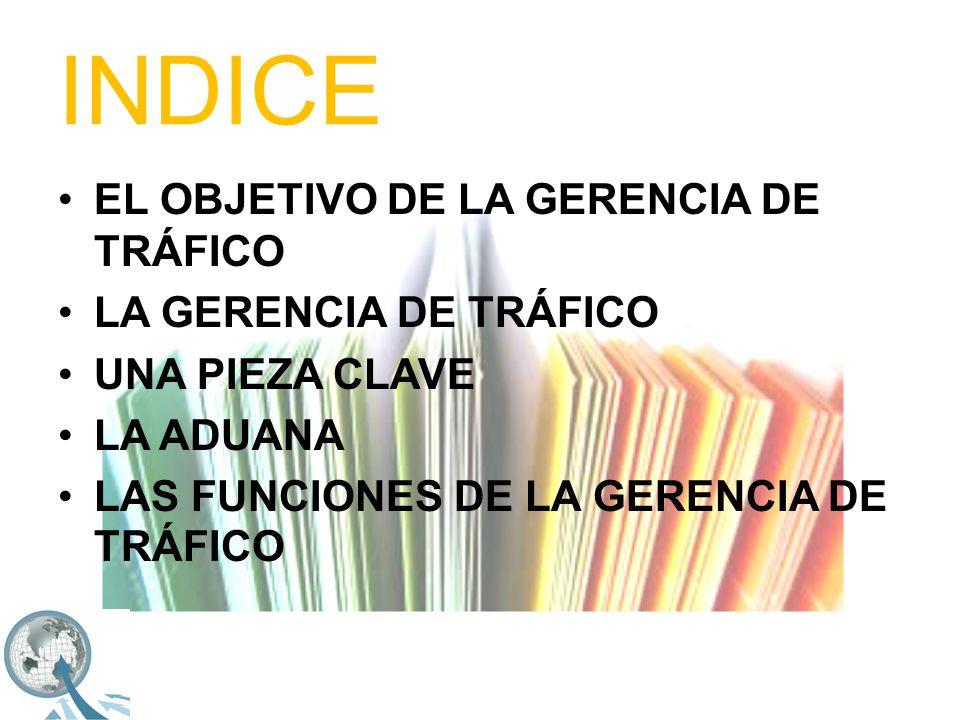 INDICE PLANEACIÓN ADUANERA PLANEACIÓN LOGISTICA DOCUMENTACIÓN ADUANAL COORDINACIÓN DE EMBARQUES AUDITORIA ADUANERA CONTROL DE INVENTARIOS