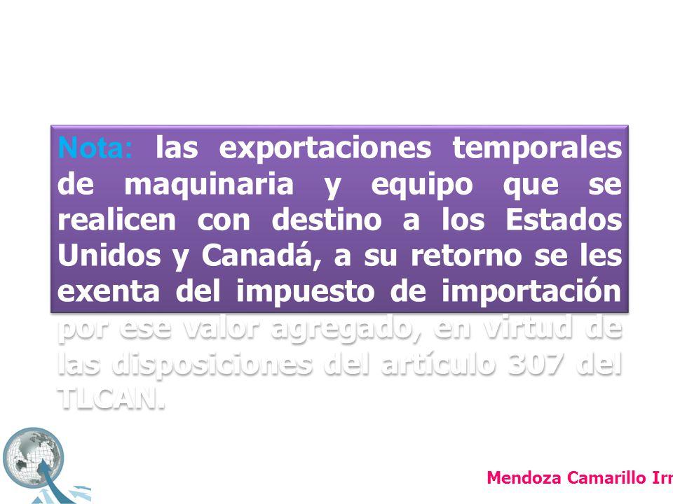 Las importaciones temporales: Aquellas que están contempladas en los convenios internacionales que tiene firmado México en el seno de la OMC (Organización Mundial de Comercio, antes GATT).