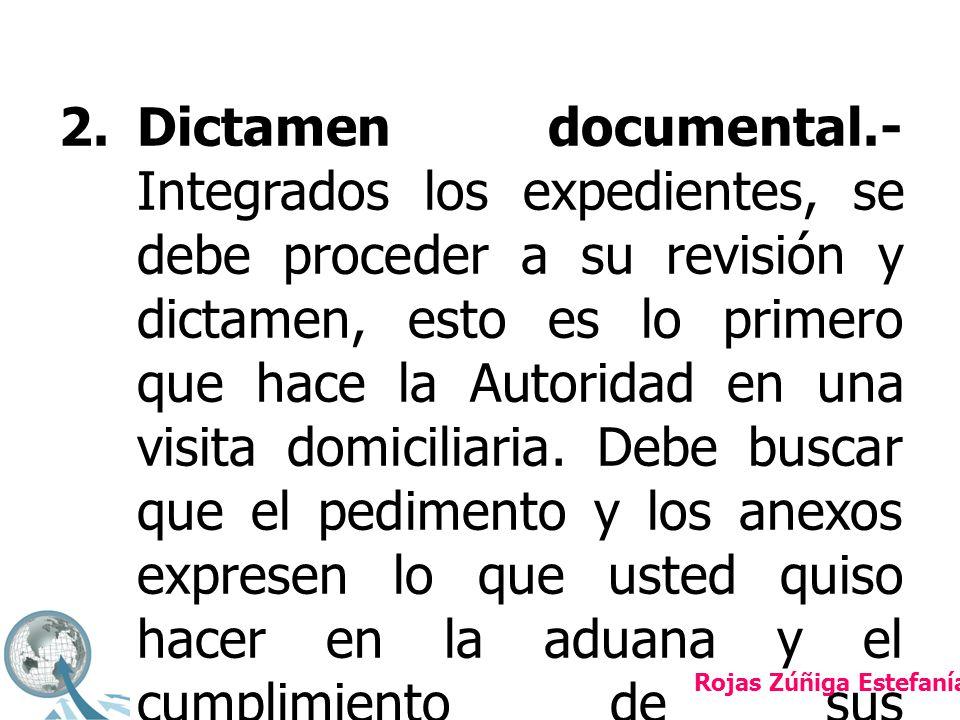 2.Dictamen documental.- Integrados los expedientes, se debe proceder a su revisión y dictamen, esto es lo primero que hace la Autoridad en una visita domiciliaria.