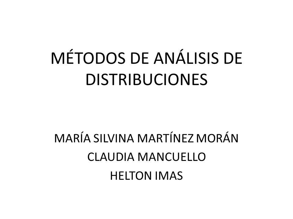 MÉTODOS DE ANÁLISIS DE DISTRIBUCIONES MARÍA SILVINA MARTÍNEZ MORÁN CLAUDIA MANCUELLO HELTON IMAS