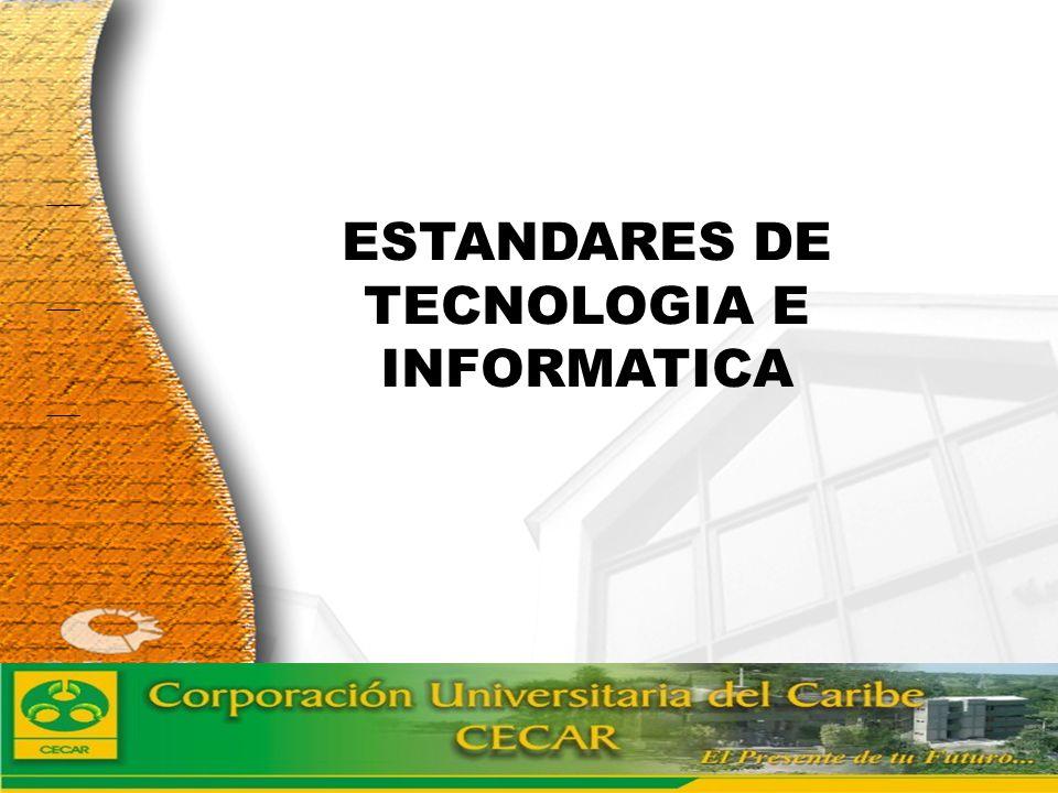 www.ceat.cl ESTANDARES DE TECNOLOGIA E INFORMATICA