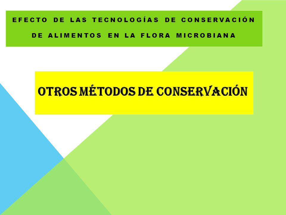 EFECTO DE LAS TECNOLOGÍAS DE CONSERVACIÓN DE ALIMENTOS EN LA FLORA MICROBIANA OTROS MÉTODOS DE CONSERVACIÓN