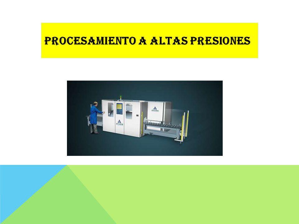 1884, utilización de procesamiento con altas presiones (HPP) o pascalizacion para reducir o destruir microorganismos en alimentos.