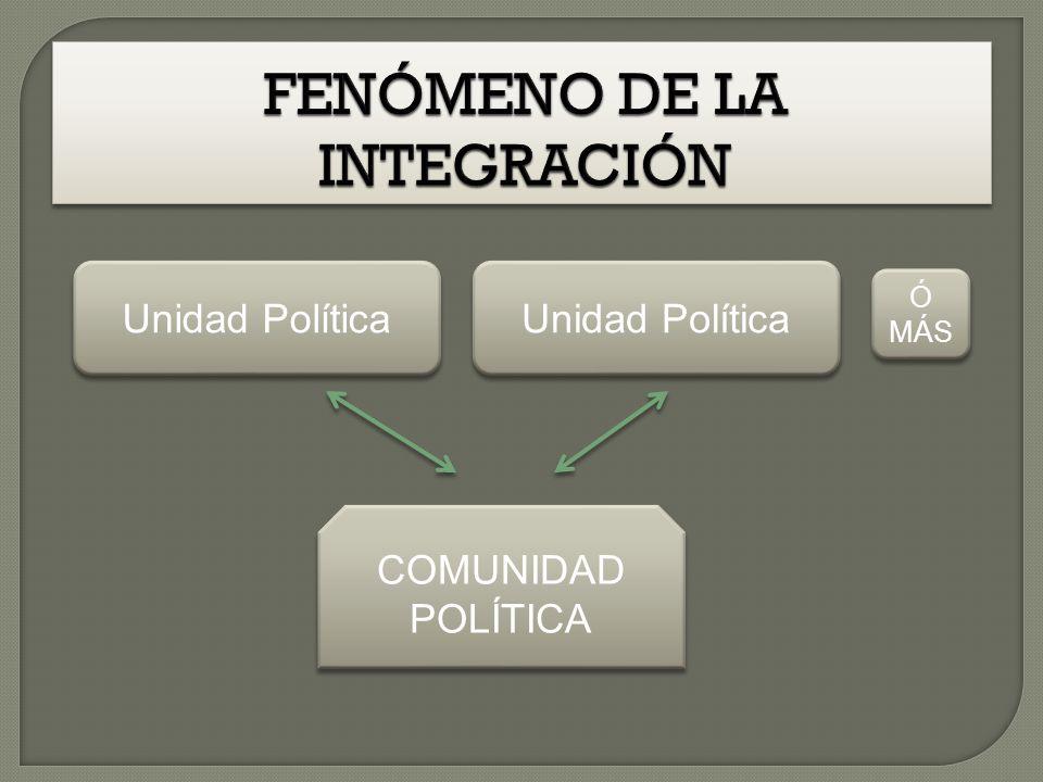 Unidad Política COMUNIDAD POLÍTICA Unidad Política Ó MÁS