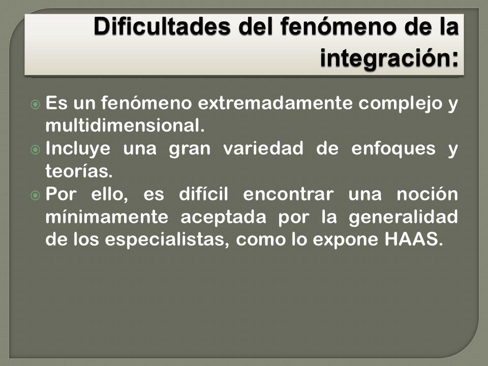 El fenómeno de la integración se refiere a la unificación cooperativa y no coercitiva.